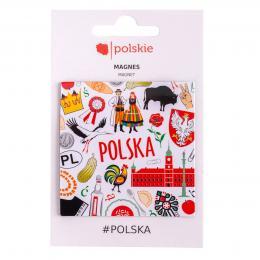 Kwadratowy magnes - POLSKA symbole