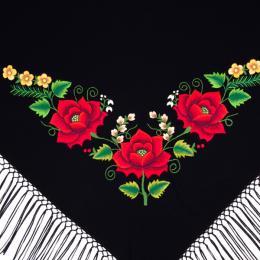 Mała chusta z haftowanymi różami