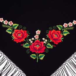 Mała chusta z tradycyjnym haftem kwiatowym