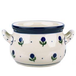 Miseczka bulionówka - ceramika Bolesławiec - jagódki