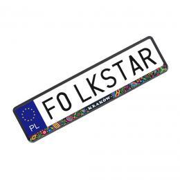 Nakładka na tablicę rejestracyjną - krakowska