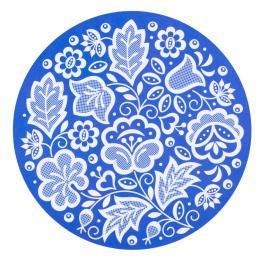 Podkładka pod mysz FOLK - kujawska niebieska