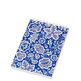 Notes FOLK na spirali - format A6 - kujawski niebieski