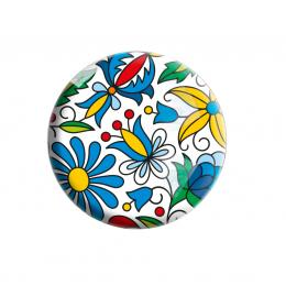Okrągły folk magnes - kaszubski