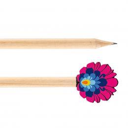 Ołówek drewniany FOLK - kwiatek łowicki