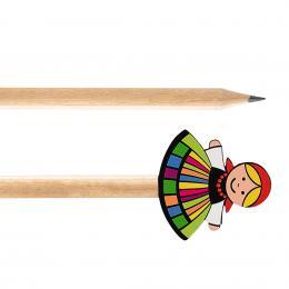 Ołówek drewniany FOLK - Łowiczanka