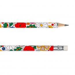 Ołówek z gumką FOLK - kociewski