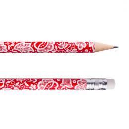 Ołówek z gumką FOLK - kujawski czerwony