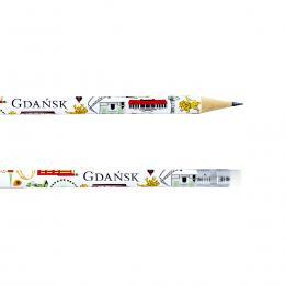 Ołówek z gumką - GDAŃSK symbole