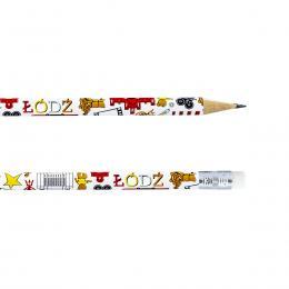 Ołówek z gumką - ŁÓDŹ symbole