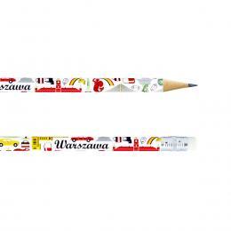 Ołówek z gumką - WARSZAWA symbole