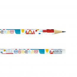 Ołówek z gumką - WROCŁAW symbole