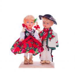 Para góralska - lalki ubrane w góralskie stroje ludowe | 23 cm