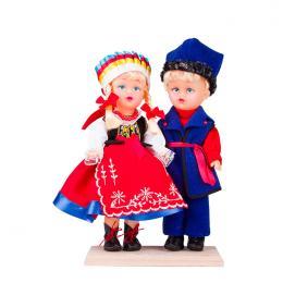 Para kujawska - lalki ubrane w kujawskie stroje ludowe | 23 cm
