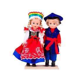 Para kujawska - lalki ubrane w kujawskie stroje ludowe | 30 cm