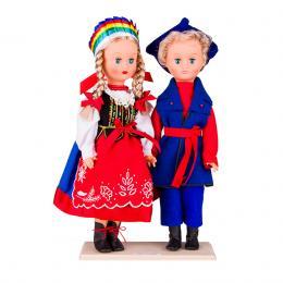 Para kujawska - lalki ubrane w kujawskie stroje ludowe | 40 cm