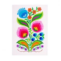 Tradycyjna kodra łowicka mini pionowa - kwiaty ludowe
