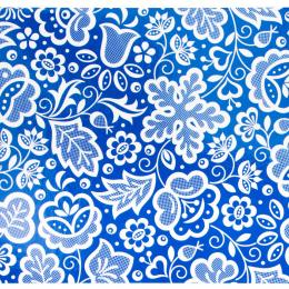Pocztówka FOLK - kujawska niebieska