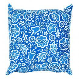 Poduszka dekoracyjna FOLK 38x38cm - kujawska niebieska