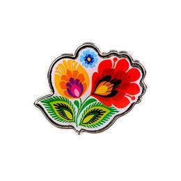 Przypinka do ubrań FOLK - łowickie kwiatki