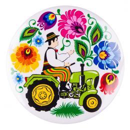 Przypinka FOLK duża - traktorek