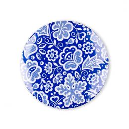 Przypinka FOLK mała - kujawska niebieska