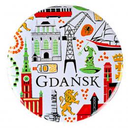 Przypinka - Gdańsk symbole