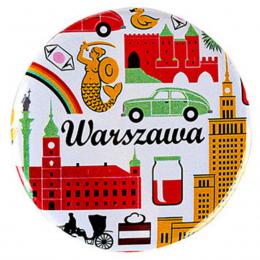 Przypinka - WARSZAWA symbole