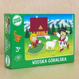 Puzzle - wioska góralska - 30 elementów