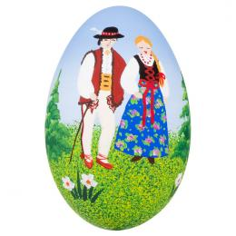 Pisanka - gęsie jajo - para góralska