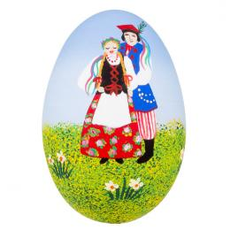 Pisanka - gęsie jajo - para krakowska