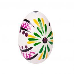 Jajko drewniane - malowane - białe