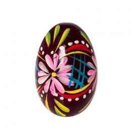 Jajko drewniane - malinowe - bordowe
