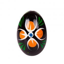 Jajko drewniane - malowane - czarne