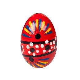 Jajko drewniane - malowane - czerwone