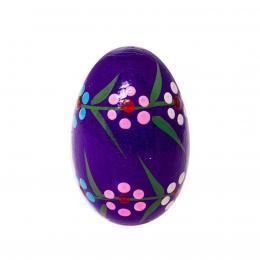 Jajko drewniane - malowane - fioletowe