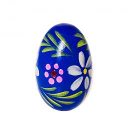 Jajko drewniane - malinowe - granatowe