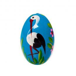 Jajko drewniane - malowane - niebieskie