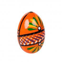 Jajko drewniane - malowane - pomarańczowe