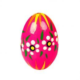 Jajko drewniane - malowane - różowe jaskrawe