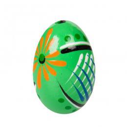 Jajko drewniane - malowane - zielone