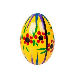Jajko drewniane - malowane - żółte