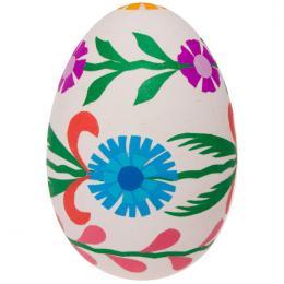Pisanka - gęsie jajo - kwiatuszki niebieskie