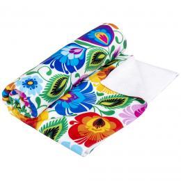 Ręcznik - 70x140 cm - łowicki biały