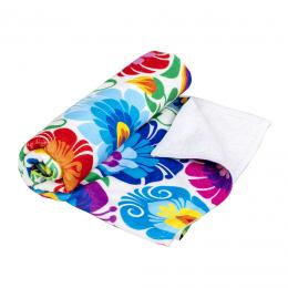 Ręcznik - 50x100 cm - łowicki biały