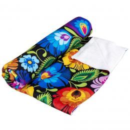 Ręcznik - 70x140 cm - łowicki czarny