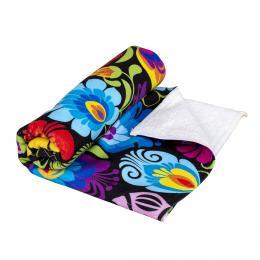 Ręcznik - 50x100 cm - łowicki czarny