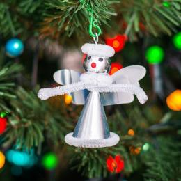 Retro ozdoba choinkowa - aniołek