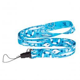 Smycz do kluczy 2 cm - BAŁTYK symbole - niebieska