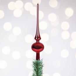Szpic choinkowy retro - czerwony